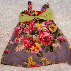 EUC 3T Atun Gray Floral Dress